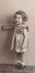 Joyce Milne D'Auria as a small girl