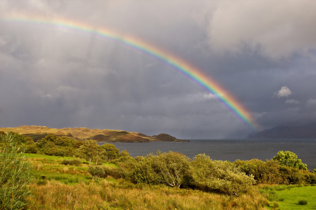 Scotland weather and its rainbows
