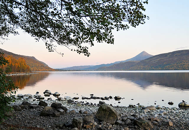 Loch Rannoch - the heroine's birthplace, from Scottish historical novel, My Blood is Royal.